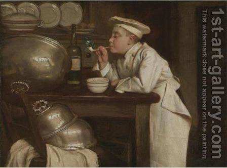 Blowing Bubbles by Claude Joseph Bail - Reproduction Oil Painting