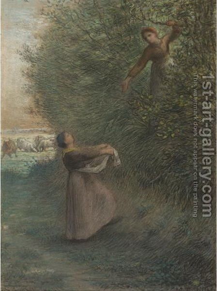 Les Petites Maraudeuses (The Little Marauders) by Jean-Francois Millet - Reproduction Oil Painting
