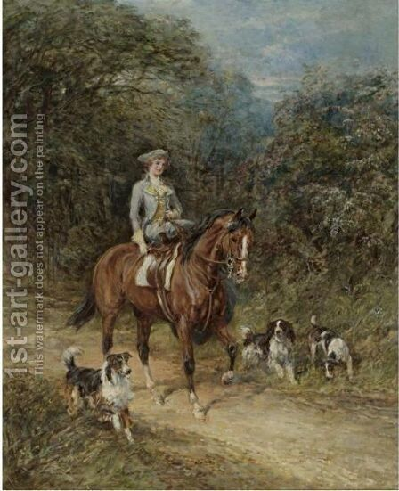 The Squire's Daughter by Heywood Hardy - Reproduction Oil Painting