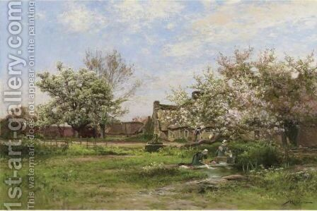 Laundresses In Spring by Albert Gabriel Rigolot - Reproduction Oil Painting