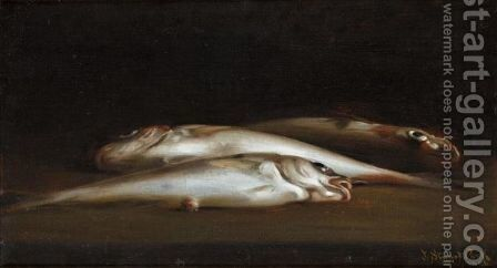 A Slippery Subject by James Stuart Park - Reproduction Oil Painting