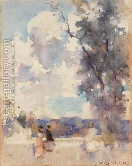 A Promenade by James Watterston Herald - Reproduction Oil Painting