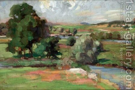 The Clyde At Dalserf by Francis Campbell Boileau Cadell - Reproduction Oil Painting