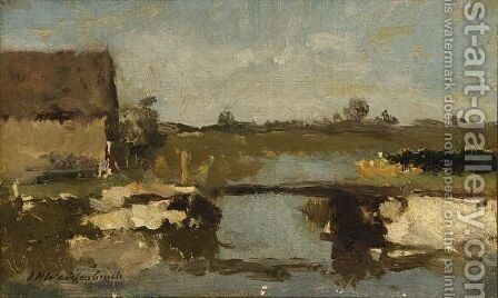 A Summer Landscape 3 by Jan Hendrik Weissenbruch - Reproduction Oil Painting
