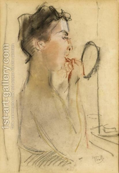 La Toilette by Isaac Israels - Reproduction Oil Painting