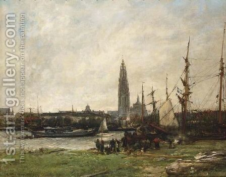 A View Of Antwerp by Antoine Vollon - Reproduction Oil Painting