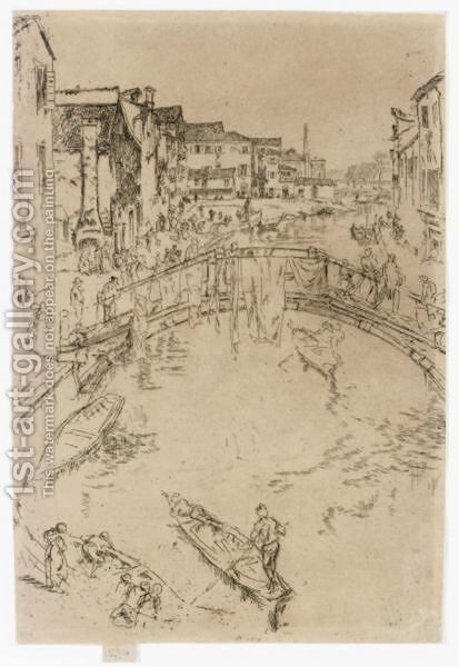 The Bridge by James Abbott McNeill Whistler - Reproduction Oil Painting