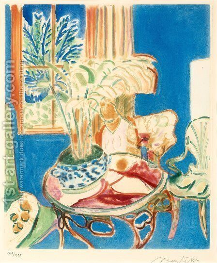 Petit Interieur Bleu by Henri Matisse - Reproduction Oil Painting