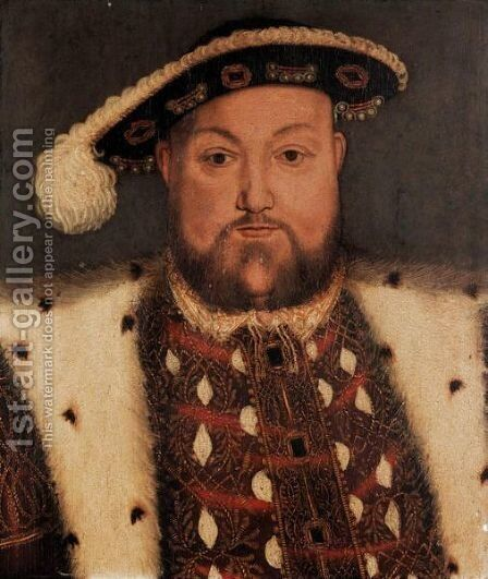 Portrait Of King Henry VIII 3 by (after) Holbein the Younger, Hans - Reproduction Oil Painting