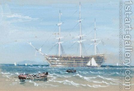 Hms Victory by (after) Foster, Myles Birket - Reproduction Oil Painting