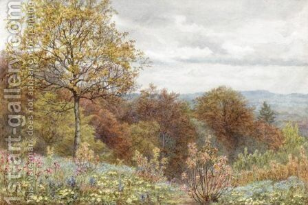 A Copse On The Slope Of Blackdown, Dorsetshire by Edith Martineau - Reproduction Oil Painting