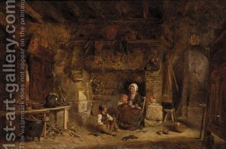 A Rustic Family by Alfred Provis - Reproduction Oil Painting