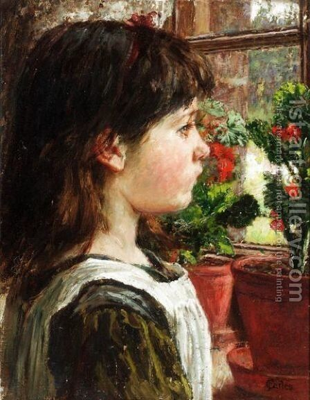 At The Window by James Charles - Reproduction Oil Painting