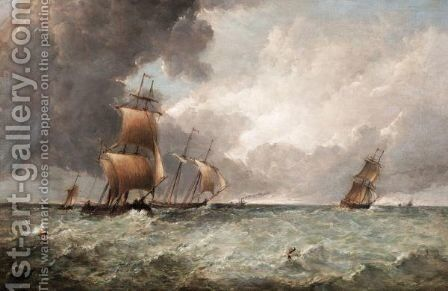 A Squally Day by Alfred Vickers - Reproduction Oil Painting