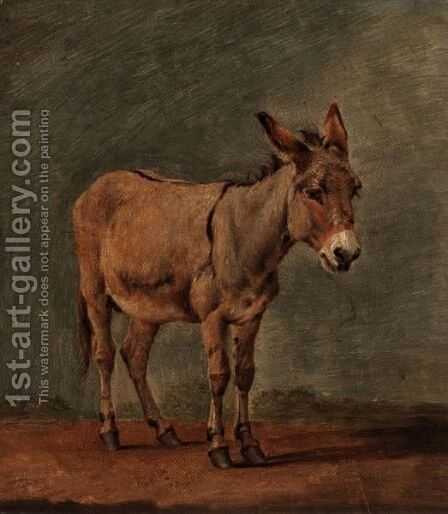 The Donkey by (after) Eugene Joseph Verboeckhoven - Reproduction Oil Painting