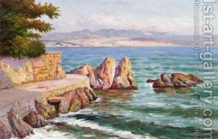 Coastal View by Carlo Brancaccio - Reproduction Oil Painting