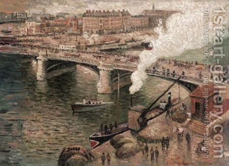 View Of Paris by (after) Frank Myers Boggs - Reproduction Oil Painting