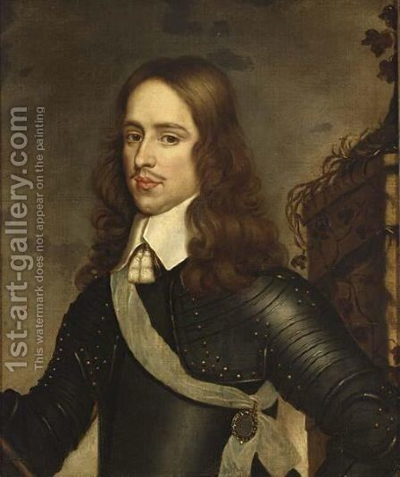 A Portrait Of Prince William II (1626-1650) by (after) Honthorst, Gerrit van - Reproduction Oil Painting