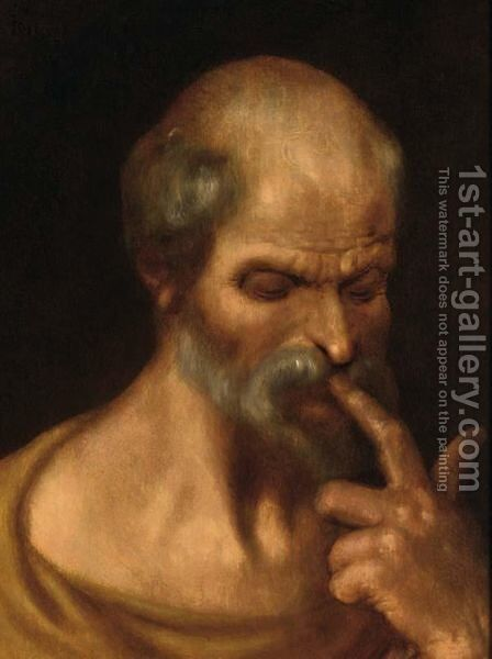 A Saint, Possibly Saint Peter by Jacob de II Gheyn - Reproduction Oil Painting