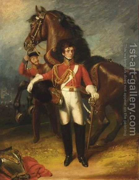 Portrait Of Capt. Rooke Of The 2nd Life Guards by James Ramsay - Reproduction Oil Painting