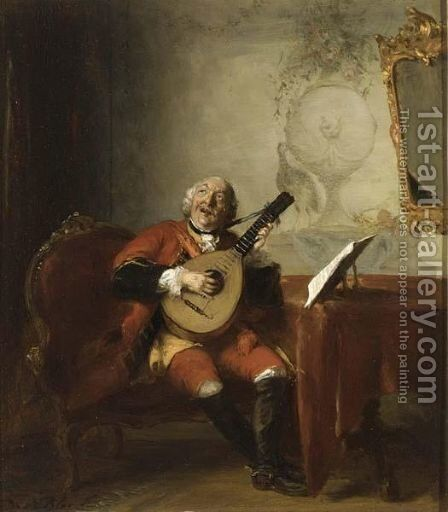 The Musician by David Bles - Reproduction Oil Painting