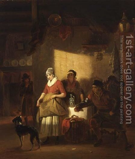 Kitchen Interior by Jakob Josef Eeckhout - Reproduction Oil Painting