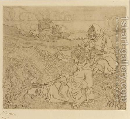 Nettenboetsters by Jan Toorop - Reproduction Oil Painting