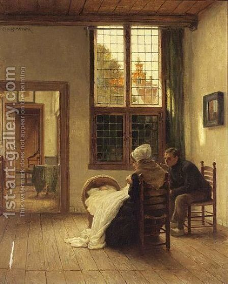 Family Time by Claus Meyer - Reproduction Oil Painting