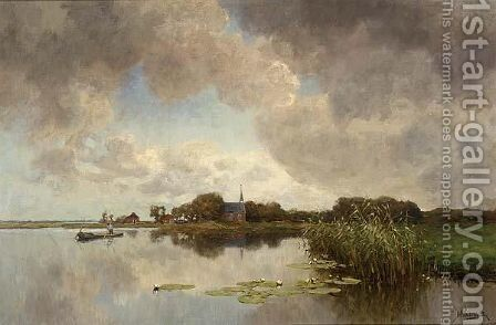 A River Landscape 2 by Jan Hillebrand Wijsmuller - Reproduction Oil Painting
