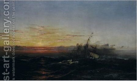 Sunset After The Gale by James Hamilton - Reproduction Oil Painting