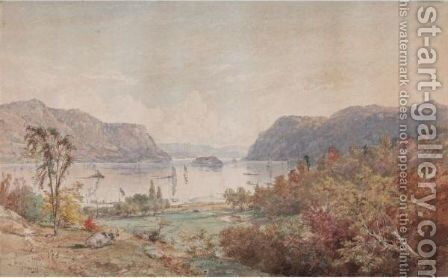 The Gates On The Hudson With Pollepel's Island by Jasper Francis Cropsey - Reproduction Oil Painting