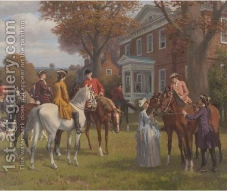 Home Of John Marshall, Richmond Virginia (Before The Hunt) by Stephen James Ferris - Reproduction Oil Painting