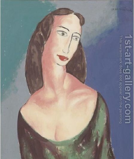 Portrait Of Janet by Alfred Henry Maurer - Reproduction Oil Painting