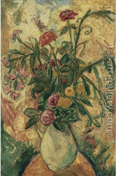Vase Of Flowers by Alfred Henry Maurer - Reproduction Oil Painting