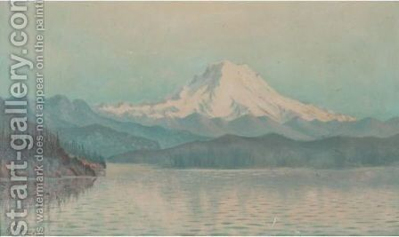 Mount Tacoma, Washington, View From Puget Sound, Mid Summer Effect by Grafton Tyler Brown - Reproduction Oil Painting