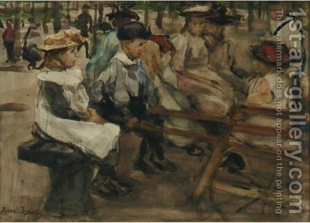 The Park by Isaac Israels - Reproduction Oil Painting