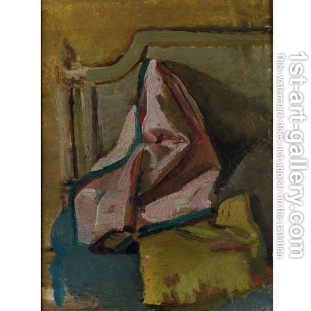 Study For Nude With A Pink Jacket by Jan Jansz. Van De Velde - Reproduction Oil Painting