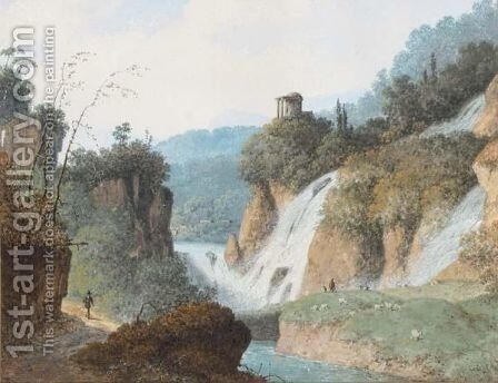 A Classical Landscape by (after) Hendrik Johannes Knip - Reproduction Oil Painting