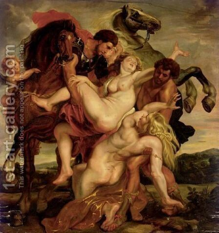 The Rape Of The Daughters Of Leucippus by (after) Sir Peter Paul Rubens - Reproduction Oil Painting
