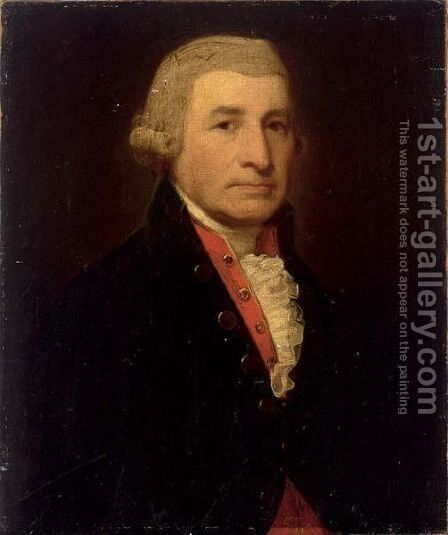 A Portrait Of George Washington (1732-1799) by English School - Reproduction Oil Painting