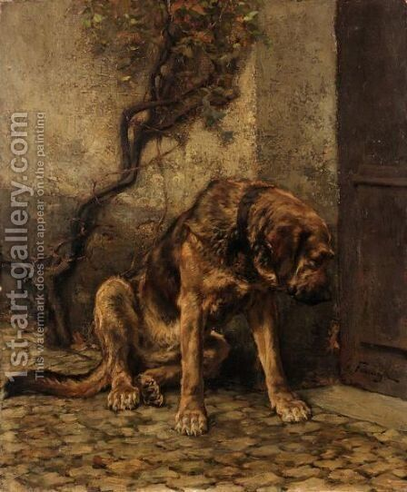 Waiting For Dinner by (after) Edgard Farasyn - Reproduction Oil Painting