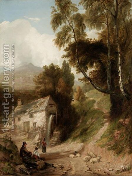 By The Watermill by (after) John Syer - Reproduction Oil Painting