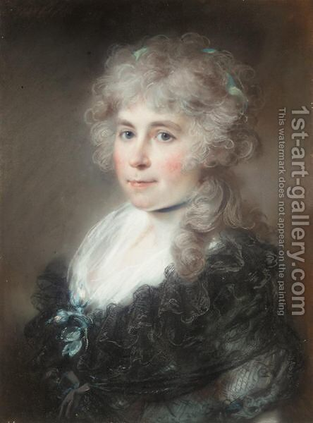 Portrait Of A Lady 4 by John Russell - Reproduction Oil Painting