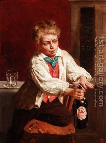 While Cook's Away by (after) Thomas P. Hall - Reproduction Oil Painting