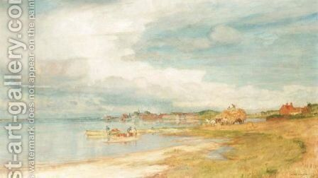 A View Of Bosham Harbour by Charles William Wyllie - Reproduction Oil Painting