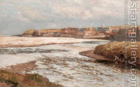 Fishing Near Stonehaven by Archibald David Reid - Reproduction Oil Painting