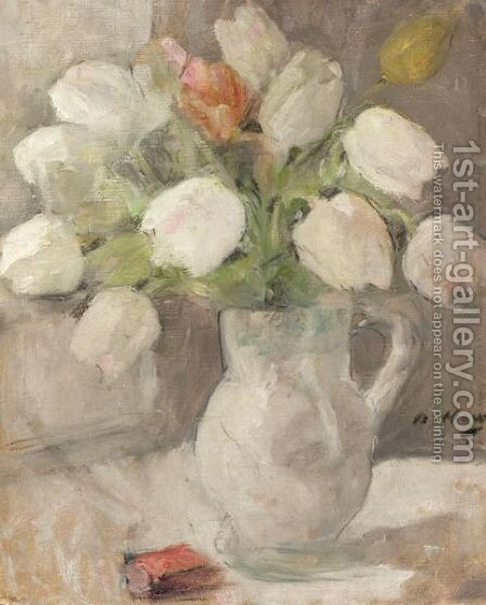Still Life With Tulips by Beatrice How - Reproduction Oil Painting