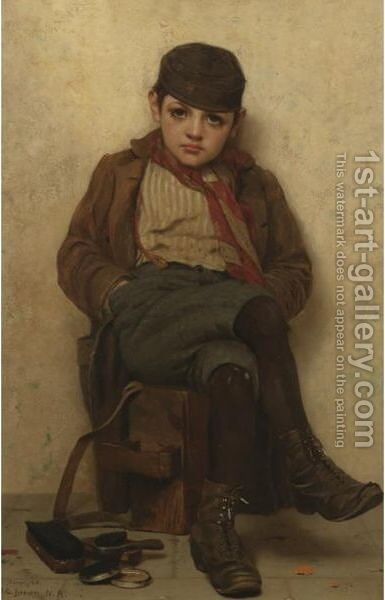 Shoeshine Boy 2 by John George Brown - Reproduction Oil Painting