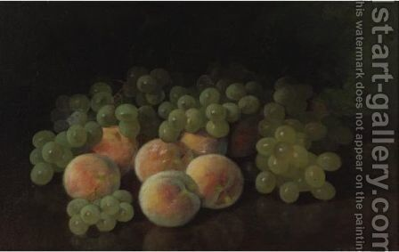 Peaches And Grapes by Carducius Plantagenet Ream - Reproduction Oil Painting