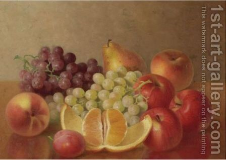 Mixed Fruit With Open Orange by Bryant Chapin - Reproduction Oil Painting
